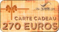 carte cadeau 270 euros