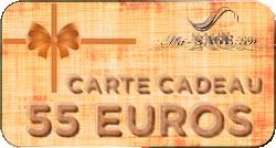 carte cadeau 55 euros
